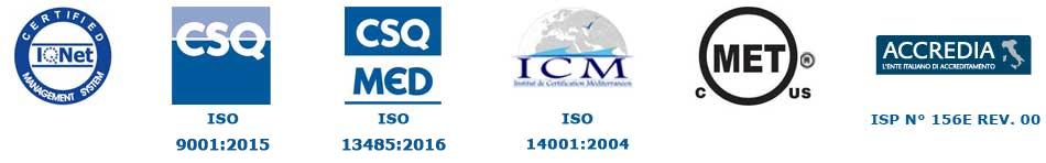 Gardhen Bilance - certificazioni